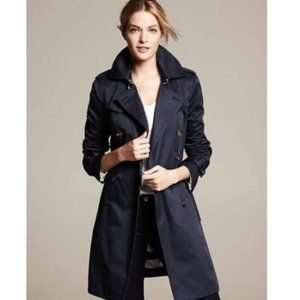 Banana Republic Classic Navy Blue Petite Coat